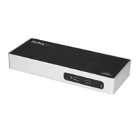 StarTech.com DK30ADD USB 3.0 (3.1 Gen 1) Type-B Black, Silver notebook dock/port replicator