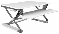 BakkerElkhuizen Adjustable Sit-Stand Desk Riser Vrijstaand Wit