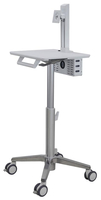"Ergotron SV10-1300-0 24"" Portable flat panel floor stand White flat panel floorstand"