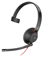 Plantronics Blackwire 5210 Monaural Head-band Black, Red headset