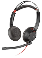Plantronics Blackwire 5220 Binaural Head-band Black, Red headset