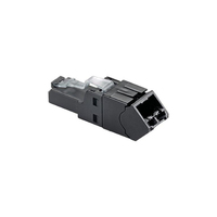 Panduit FPUD6X88MTG RJ-45 TX6A Black cable interface/gender adapter