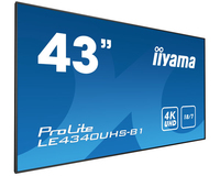 "iiyama LE4340UHS-B1 42.5"" LED 4K Ultra HD Noir affichage de messages"