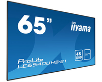 "iiyama LE6540UHS-B1 64.6"" LED 4K Ultra HD Noir affichage de messages"