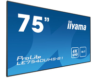 "iiyama LE7540UHS-B1 75"" LED 4K Ultra HD Noir affichage de messages"