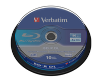 Verbatim BD-R DL 50GB 6 x 10 Pack Spindle BD-R 50GB 10stuk(s)