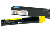 Lexmark C950X2YG 24000pages Yellow laser toner & cartridge