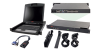 "APC 2x1x16 IP KVM w/ 17"" Rack LCD & USB VM Server Module Bundle 1U Black KVM switch"
