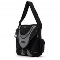 "Mobile Edge ME Mini Messenger - Black / Silver 14.1"" Messenger case Black"