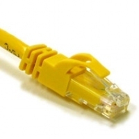 C2G 1ft Cat6 550MHz Snagless 0.3m Yellow networking cable
