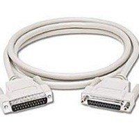 C2G 6ft DB25 M/F Null Modem Cable 1.82m Beige networking cable