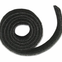 C2G 25ft Hook / Loop Cable Wrap Nylon Black cable tie