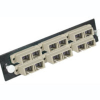 C2G Q-Series 6-Strand MM Beige SC Adapter Panel Beige cable interface/gender adapter