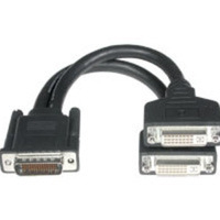 C2G 9in LFH-59 (DMS-59) Male to 2 DVI-I Female Cable LFH-59 (DMS-59) 2 DVI-I Black cable interface/gender adapter