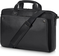 "HP Executive Black Leather 15.6 Top Load 15.6"" Sleeve case Black"