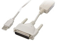 US Robotics USB-to-Serial Cable White cable interface/gender adapter