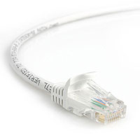 StarTech.com 6 ft White Snagless Category 5e (350 MHz) UTP Patch Cable 1.83m White networking cable