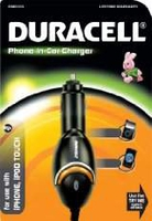 Duracell DC Phone Charger (iPhone) Auto Black mobile device charger
