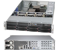 Supermicro SuperChassis 825TQ-R740WB Rack 740W Black computer case