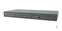 APC 16 Port Multi-Platform Analog KVM 1U Black KVM switch