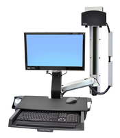 "Ergotron StyleView Sit-Stand Combo System with Worksurface 24"" Aluminium"