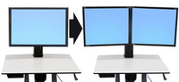 Ergotron WorkFit Convert-to-Dual Kit from Single HD 22""