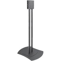 "Peerless FPZ-600 60"" Portable Black flat panel floorstand"