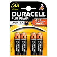 Duracell AA Plus Power batterijen (4 stuks)