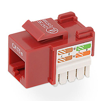 Belkin Cat5e Keystone Jack, red Red cable interface/gender adapter