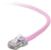 Belkin Cat5e Patch Cable, 4ft, 1 x RJ-45, 1 x RJ-45, Pink 1.2m networking cable