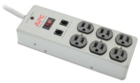 APC Essential SurgeArrest 6 Outlets with Phone Protection 120V Metal 6AC outlet(s) 120V 1.22m Grey surge protector