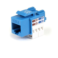 StarTech.com 110 Punch Type Category 6 Keystone Jack - Blue