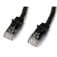 StarTech.com 3 ft Black Snag-less Category 6 Patch Cable - ETL Verified 0.91m Black networking cable