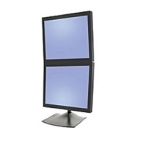 Ergotron DS Series DS100 Dual Monitor Desk Stand, Vertical