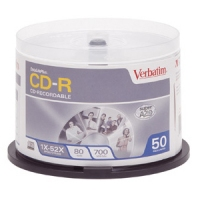 Verbatim DataLifePlus CD-R Media CD-R 700MB 50pcs