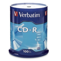 Verbatim Standard 120mm CD-R Media CD-R 700MB 100pcs