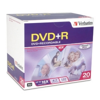 Verbatim 16x DVD+R Media 4.7GB DVD+R 20pcs