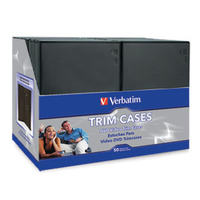 Verbatim DVD Video Trimcases - Black 50pk Black