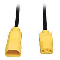 Tripp Lite IEC-320-C14, IEC-320-C13, 4ft 1.2m C14 coupler C13 coupler Black, Yellow power cable