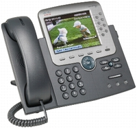 Cisco Unified IP Phone 7975G w/ 1 RTU License Caller ID Black,Silver