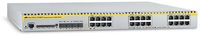 Allied Telesis 24-port 10/100/1000BaseT Managed Layer 3 Switch w/ 4x SFP slots Managed L3 White