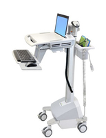 Ergotron StyleView EMR, US/CA/MX Flat panel Multimedia cart Silver,White