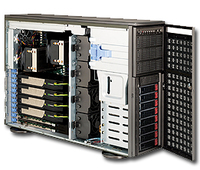 Supermicro SuperChassis 747TQ-R1620B Rack 1620W Black,Grey computer case