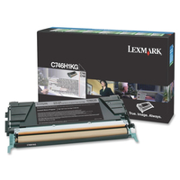 Lexmark C746H1KG Cartridge 12000pages Black laser toner & cartridge