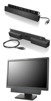 Lenovo USB Soundbar Wired 2.0channels 2.5W Black soundbar speaker