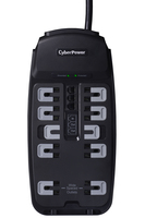 CyberPower CSP1008T 10AC outlet(s) 125V 2.4m Black surge protector