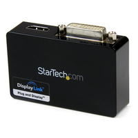 StarTech.com USB32HDDVII 2048 x 1152pixels Black USB graphics adapter