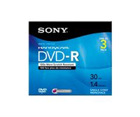 Sony DVD-R Recordable Storage - 3 Discs 2.8GB DVD-R 3pcs