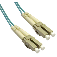 Add-On Computer Peripherals (ACP) LC - LC, LOMM, OM4, 5m 5m LC LC Turquoise fiber optic cable