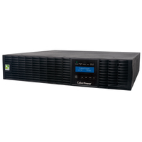 CyberPower Smart App Online Double-Conversion (Online) 3000VA 7AC outlet(s) Rackmount/Tower Black uninterruptible power supply (